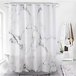 Other - Marble Bathroom Shower Curtain Grey and White